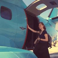 to Jeremie in a little blue plane