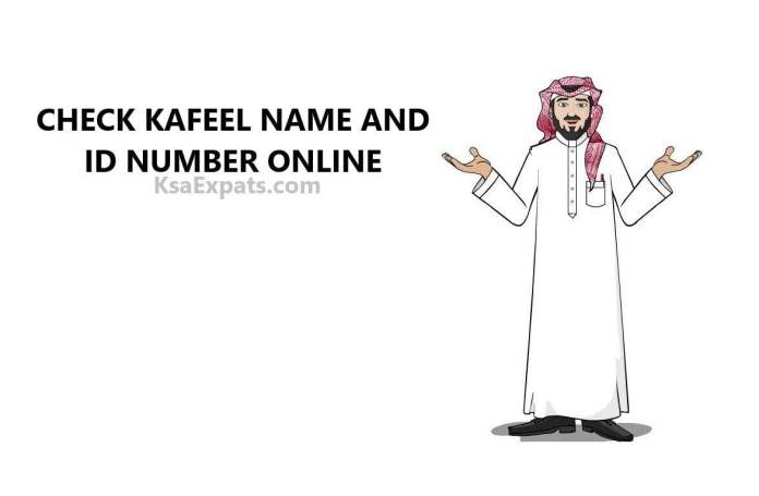 CHECK KAFEEL NAME AND ID NUMBER ONLINE