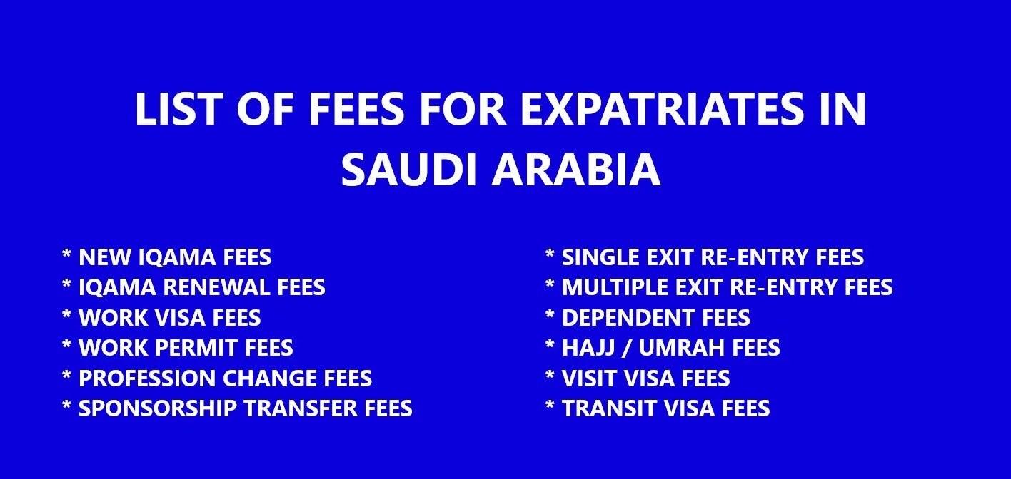 LIST OF MOI (JAWAZAT) SERVICE FEES IN SAUDI ARABIA -2019 - KSAEXPATS COM