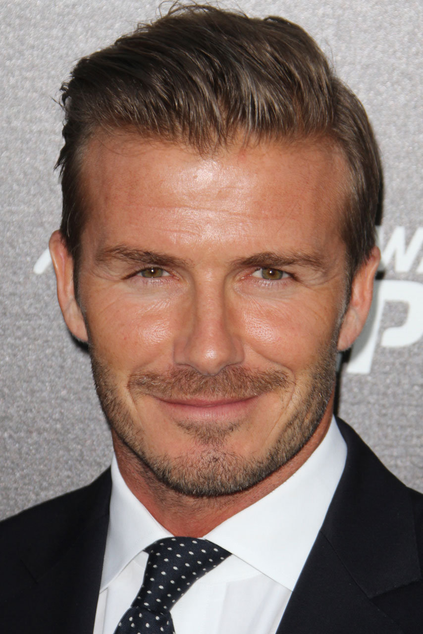 David Beckham Is All Smiles As He Attends Sports Event