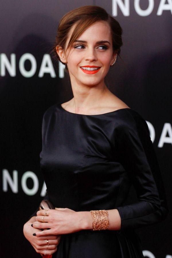 Emma Watson Wears Backless Black Ballgown Noah Premiere