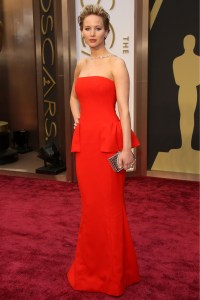 Jennifer Lawrence Trips On The Oscars 2014 Red Carpet... Again