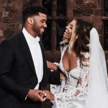 Russell Wilson and Ciara Wedding Dress