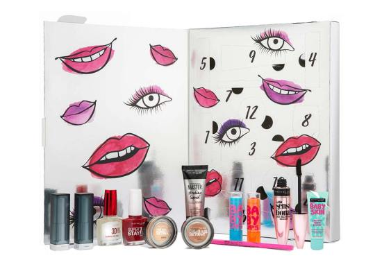 beauty advent calendars 2018 Maybelline
