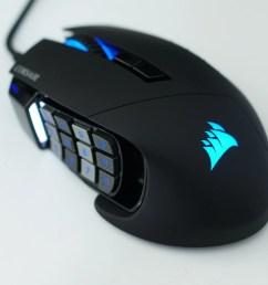 best gaming mouse corsair scimitar pro rgb [ 6000 x 3376 Pixel ]