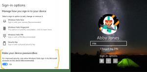 Windows 10 passwordless