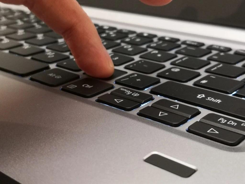 Сканер клавиатуры Acer Swift 1 SF114-32 и сканер отпечатков пальцев