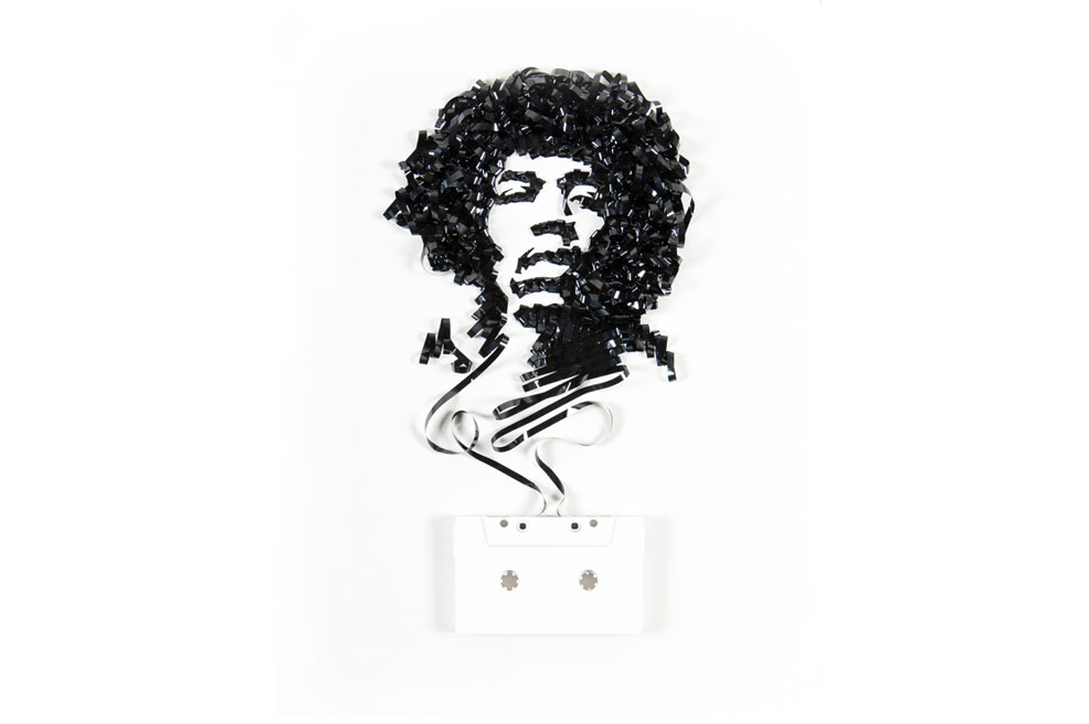 11 Genius Portraits Of Music Icons Made Out Of Cassette