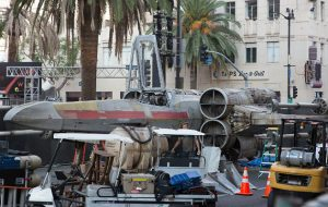 Star Wars' X Wing fighter in Hollywood