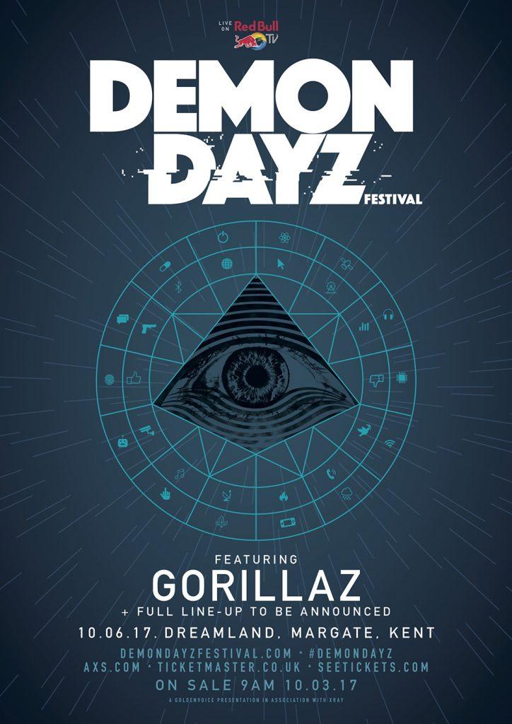 Gorillaz estará jugando al Demon Dayz Festival