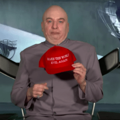 Dr Evil Chair Covers Homestore And More Mike Myers Brings Back To Take Aim At Trump Nme As On The Tonight Show Credit Nbc Press