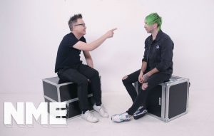 Band Vs Band:watch Blink's Mark Hoppus And All Time Low's Alex Gaskarth –collectively Simple Creatures – Go Head-to-head On Camera
