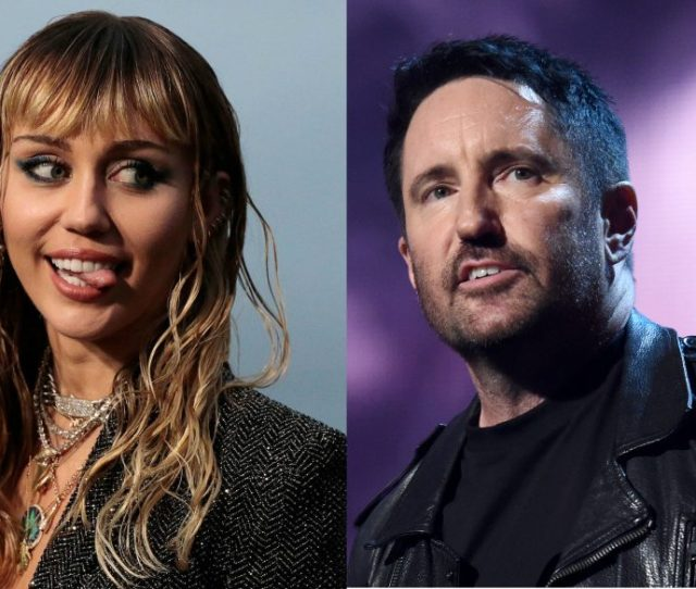 Cyrus Miley Cyrus And Nine Inch Nails Trent Reznor