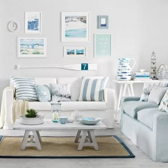 Coastal Design Living Room Chair Arm Covers Rooms To Recreate Carefree Beach Days White