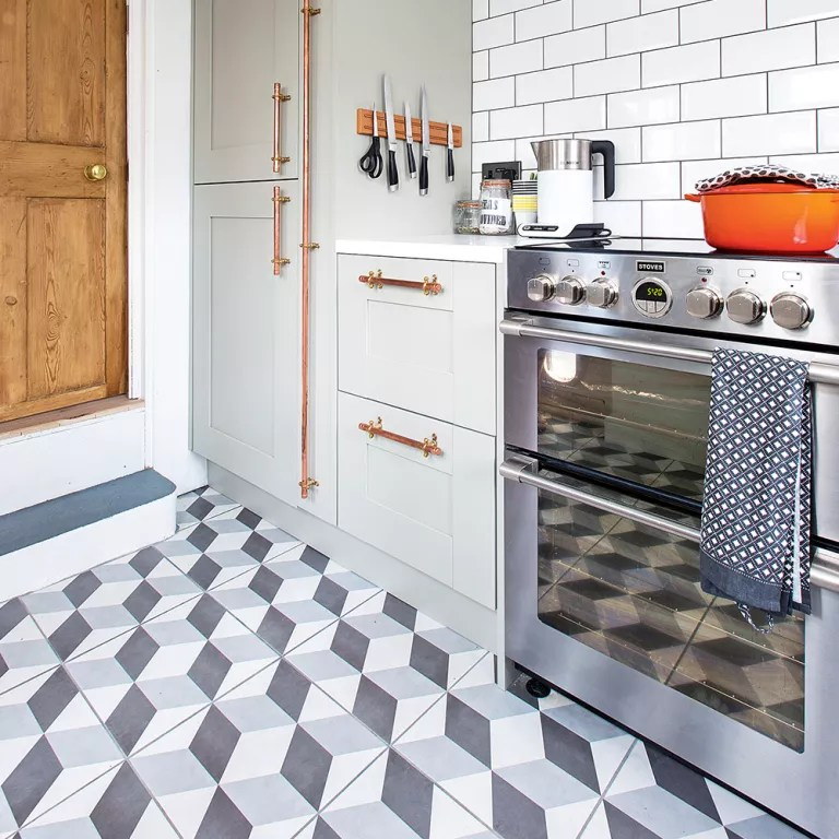 floor tile for kitchen flooring ideas a that s hard wearing practical geometric tiles jonathan jones