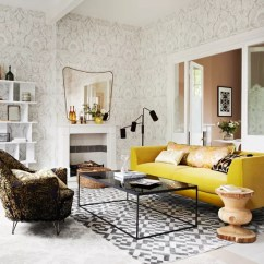 Yellow And Brown Living Room Decorating Ideas Beige Couch How To Decorate With Ideal Home Grey Sofa Chair