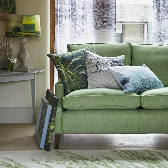 green cushions living room furnitures for how to decorate with ideal home soft furnishings