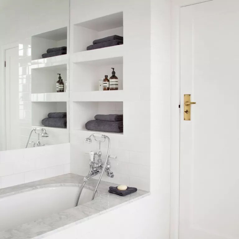 Built In Bathroom Shelves Bathroom Storage Ideas Bathroom Storage Hacks And Solutions