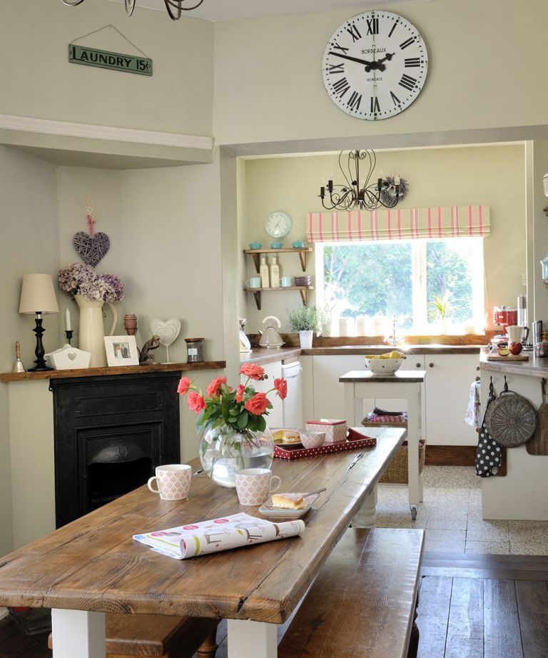 small living room with dining table ideas blinds argos set country rustic wooden