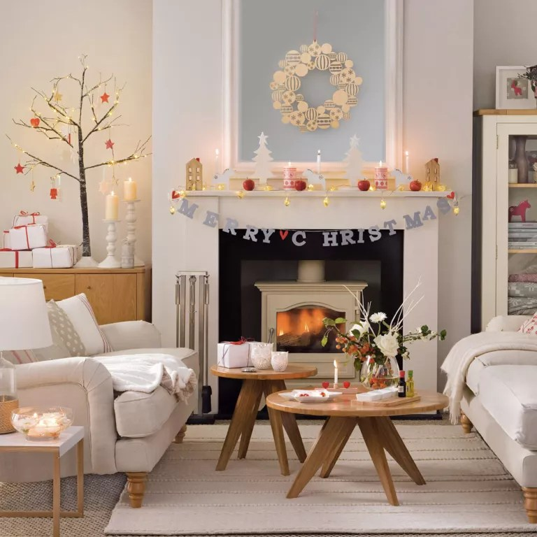 decorate small living room for christmas paint colours budget decorating craft ideas cheap merry