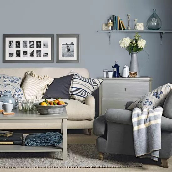 living room colours to match grey sofa beach house ideas great schemes with mix and chairs ideal home country style blue cream