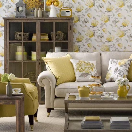 brown living room chairs small designs ideas great schemes with mix and match ideal home sunny yellow photo gallery