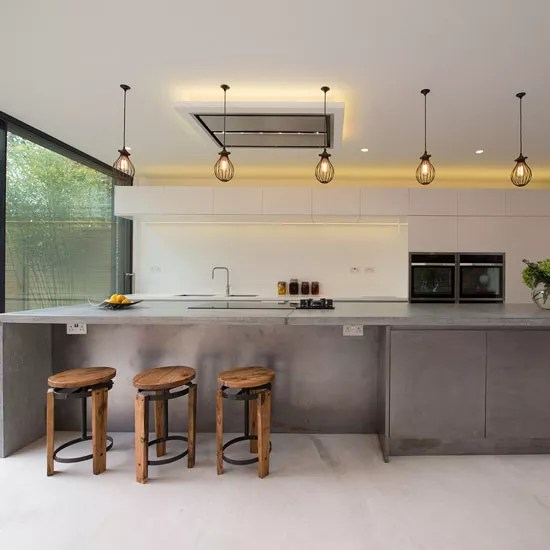 Create An Industrial Style Kitchen With Concrete Ideal Home