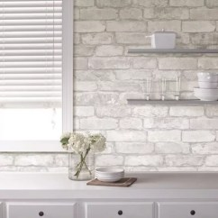Wallpaper For Kitchen Bar Brick Our Pick Of The Best Ideal Home Nu Peel Stick