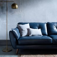 Leather Sofas Dfs Blue Room Brown Sofa Style Guide To Ideal Home Zinc 3 Seater 1 695 French Connection Range