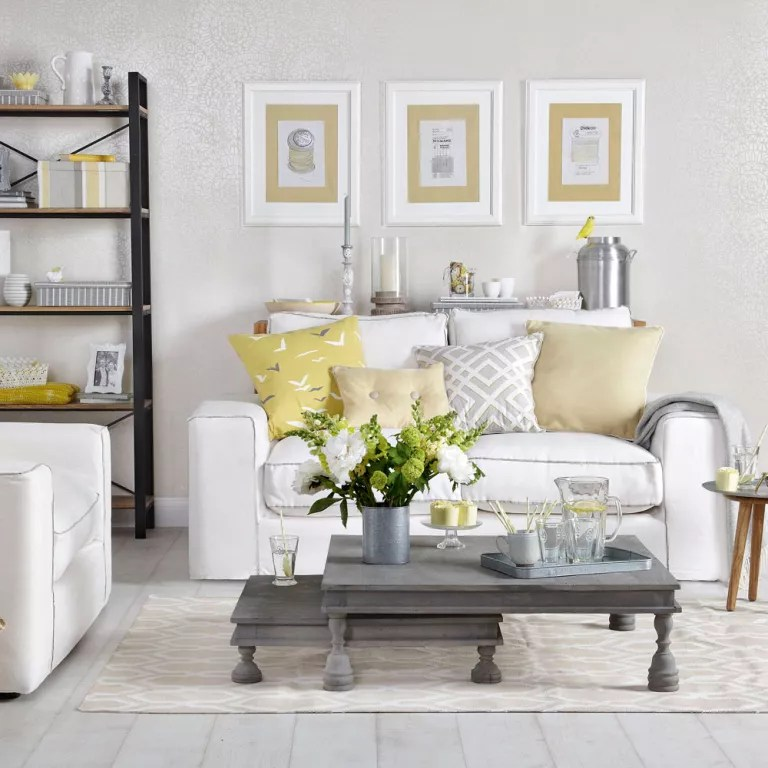 Modern Teal Yellow And Grey Living Room Novocom Top