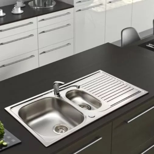 best kitchen sink two tone island sinks our pick of the ideal home aegean stainless steel and tap pack