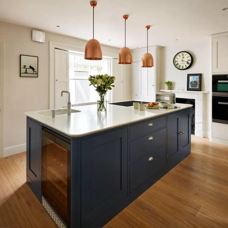 navy blue kitchen decor backsplash tile ideas kitchens that look cool and stylish