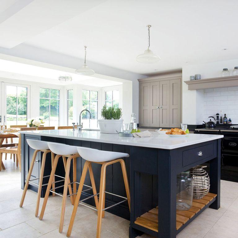 kitchen islands uk stick on tile backsplash island ideas with seating lighting