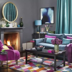 Purple Color For Living Room White Coffee Table Colour Schemes Jewel Scheme