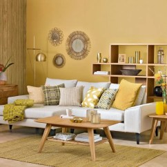 Color Schemes For Living Room With Brown Furniture Contemporary Art Deco Colour Mustard Yellow
