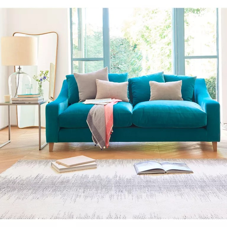 cheap teal sofas steel sofa come bed pictures velvet our pick of best ideal home crawford large in designers guild varese cassis
