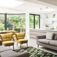 Open Plan Kitchen Dining Living Room Plans Luxury Design Ideas Before And After From Separate Rooms To Huge The Curve Of Extension Gave Owners Space For A Generously Sized Area Table Is Genius That Doubles As Snooker