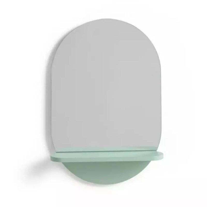 Habitat Freja Mirror with Shelf in green