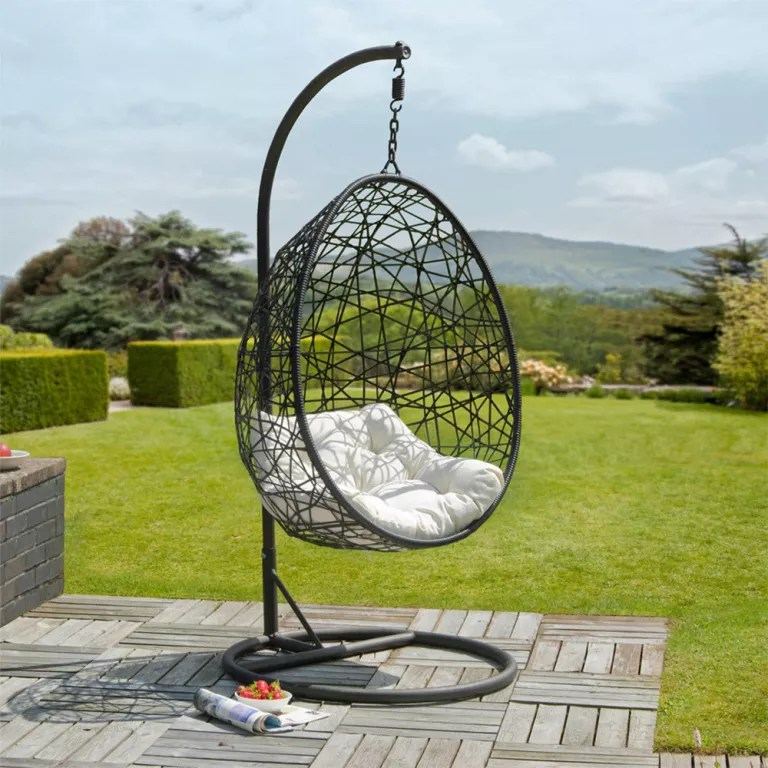 swing chair garden uk queen anne style swings to make your summer along nicely