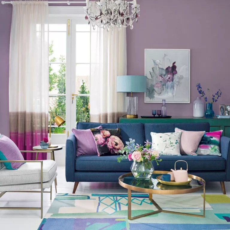 Purple living room ideas  Ideal Home
