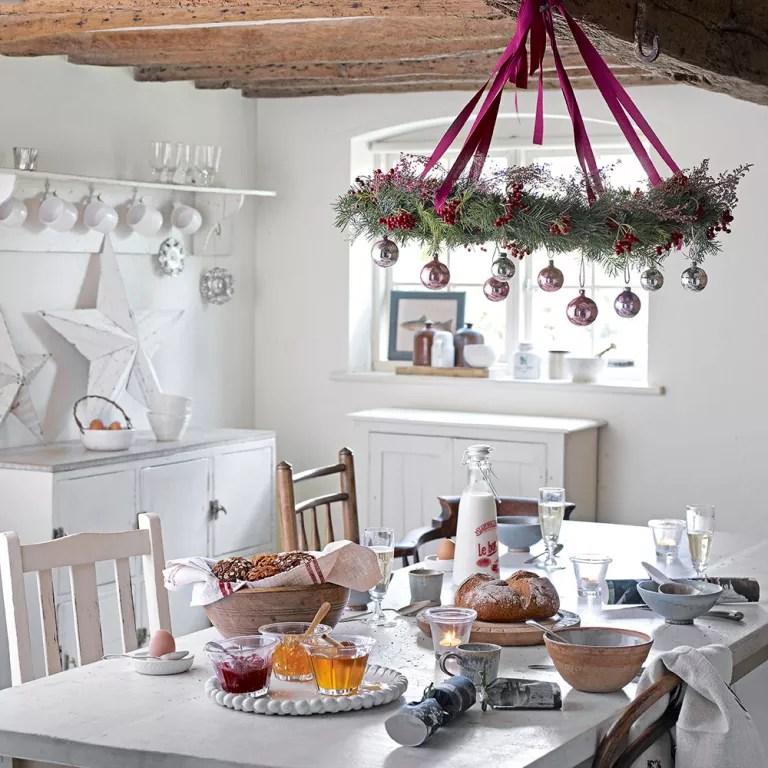 decoration kitchen american standard white faucet christmas decorating ideas that will cheer up the cook baubles