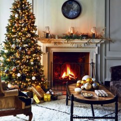 Decorate Small Living Room For Christmas Sets Sectionals Decorating Ideas Classic With Tree And Garland
