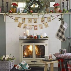 Christmas Decoration Ideas For Small Living Room Of Decorating A Craft Fireplace