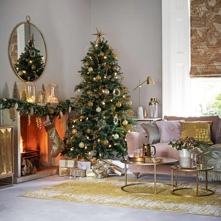 christmas decoration ideas for small living room grey and blue decor decorating