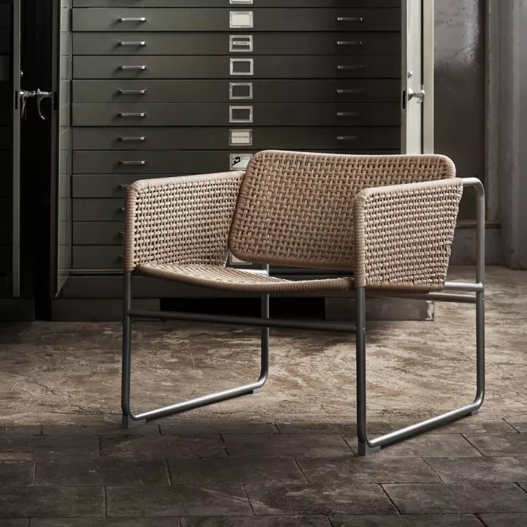 old blue chair heavy duty mat ikea collaborates with piet hein eek for new industriell collection