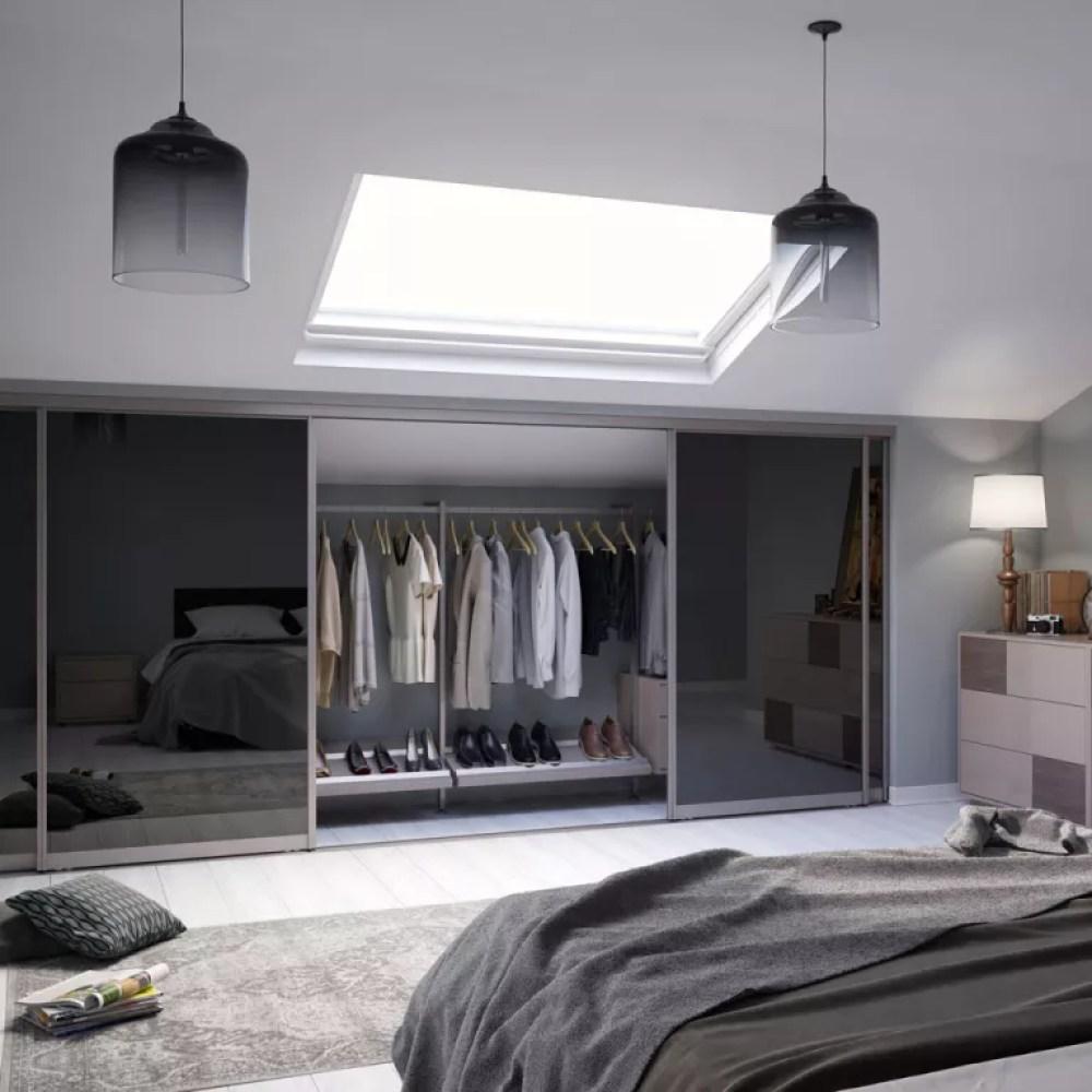 loft wardrobes with sliding mirror doors