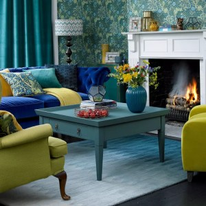 living yellow rooms bold sofa spaces decor colors turquoise inspiration accents sophisticated soothing decorating designs traditional brittain credit david