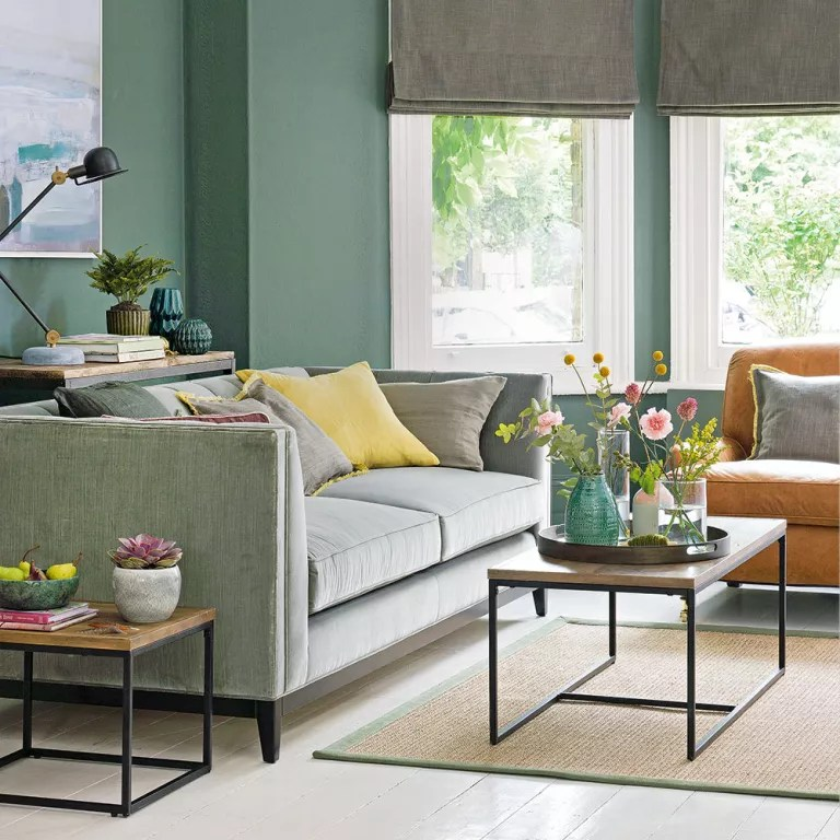green sofa living room ideas modern chairs cheap for soothing sophisticated spaces