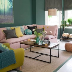 Small Living Room Ideas Green Coral Paint Color For Soothing Sophisticated Spaces Mix With Blush Pink