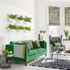 Green Sofa Living Room Ideas Decor Blue And Grey For Soothing Sophisticated Spaces Plant Wall